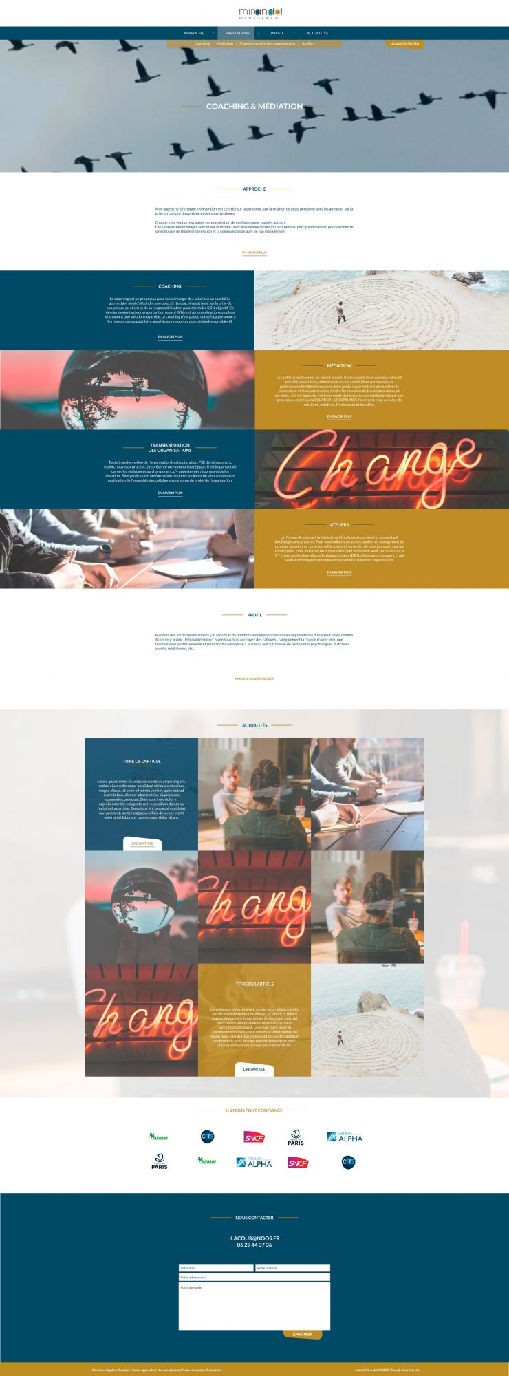 Mirandol Management / Site / Accueil