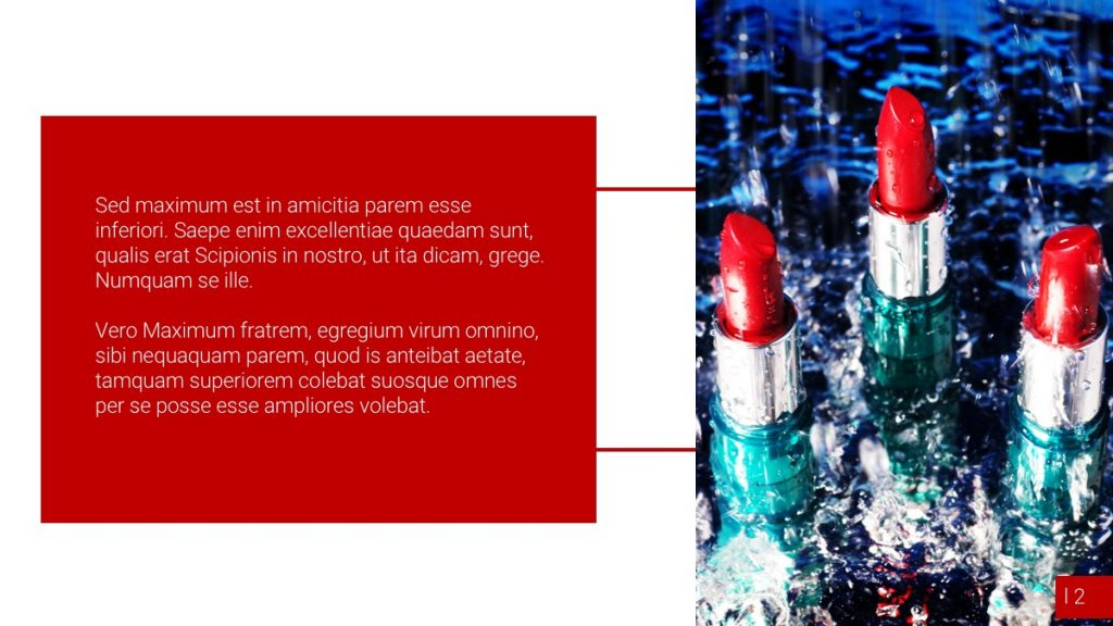 Cosmétique Lèvres / Powerpoint / Diapo3