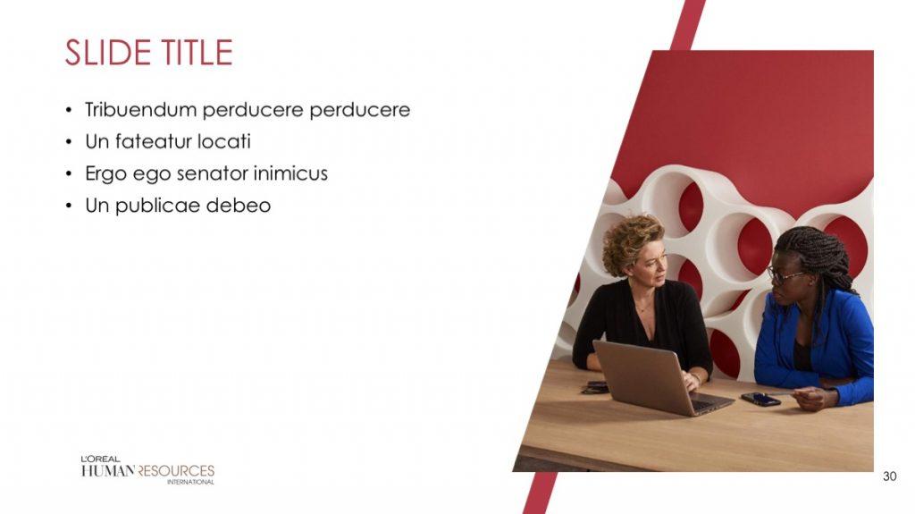 L'Oreal / Powerpoint / Diapo30