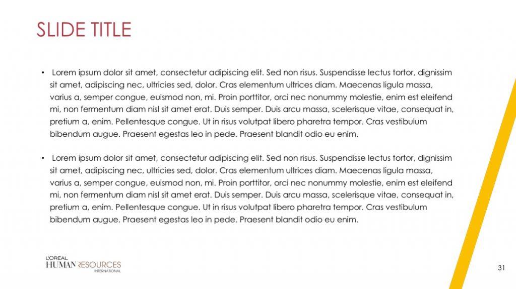 L'Oreal / Powerpoint / Diapo31