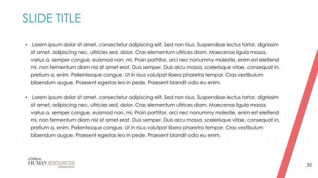 L'Oreal / Powerpoint / Diapo32