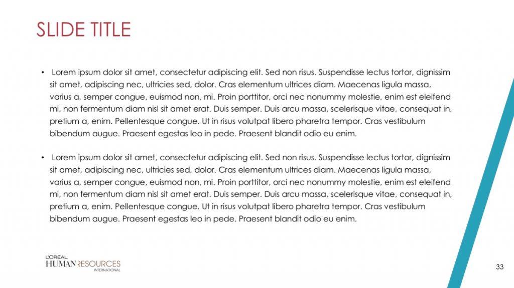 L'Oreal / Powerpoint / Diapo33