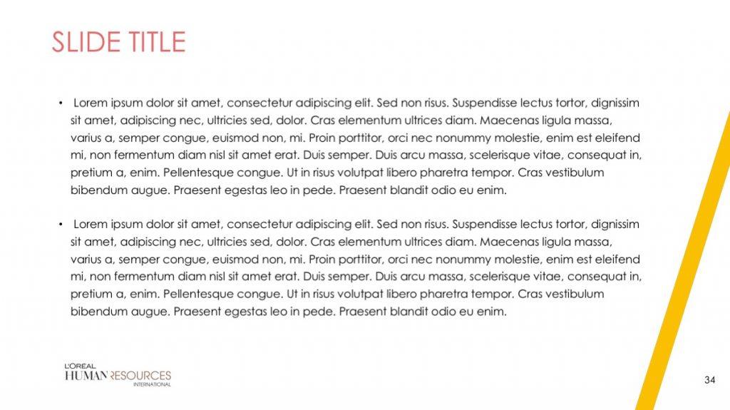 L'Oreal / Powerpoint / Diapo34